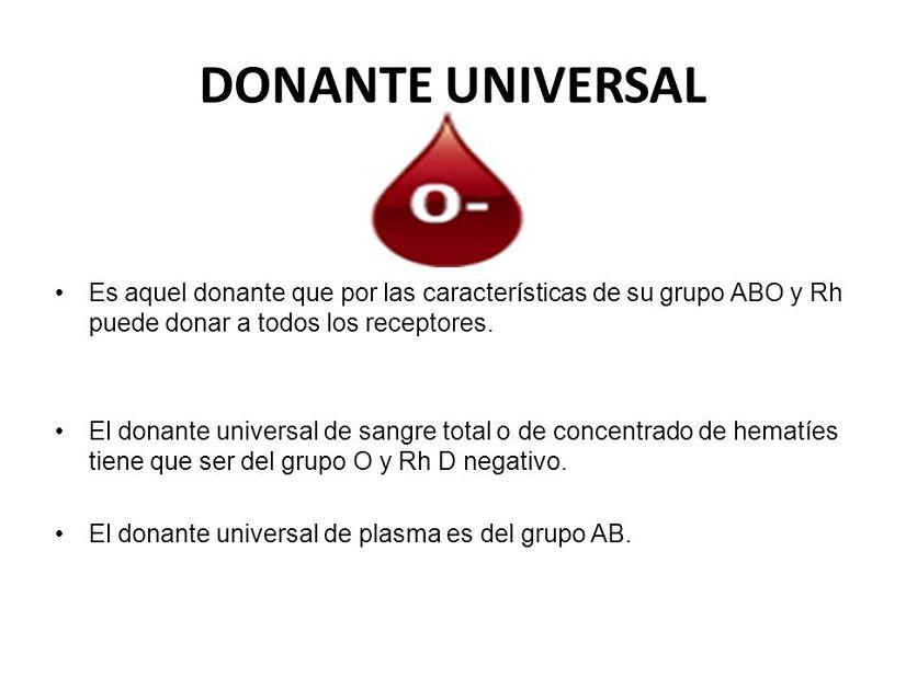 cual es el dador universal grupo sanguíneo