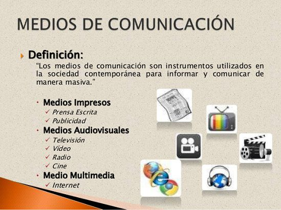 Tipos de medios de comunicacion for Definicion de contemporanea